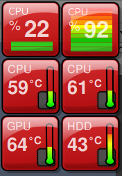 Temperature screenlets